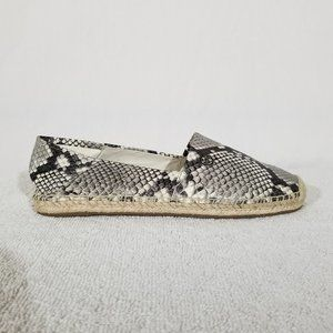 Michael Kors leather snakeskin print espadrilles
